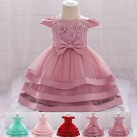 Girl's Dresses 2021 Pageant Baby Girl Dress First Birthday For Ceremony Evening Gown Party Wedding Princess 3-24 Month