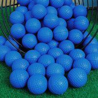 12 pcs PU Espuma Bolas de golfe Azul Esponja Elastic Indoor Prática ao ar livre Treinamento Acessórios para esferas de exercício