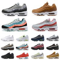 Nike Air Max KIM JONES x 95 Mens Running Shoes Footprint ERA Essential Alien Hyper Red Seahawks black white 95s men trainer sports sneakers