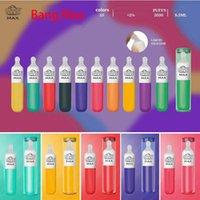 Original Newest Bang Max Descartável E-Cigarros 3500 Puffs 8.0ML Capacidade 10 Cores Disponíveis Silicone líquido com caixa de presente vs XXL Puff Bar Plus Air Bar Max