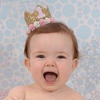 Joy-Lronife Baby Douche Kids Couronne d'anniversaire Chapeau de fleur Baby Anniversaire Partie Décoration 1 2 Année Bébé Bébé Douche Décor