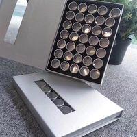 35pcs vides aluminium jar cosmétique lèvre conteneurs d'art accessoires de rangement boîte manucure outil strass gemmes décorations de conteneur