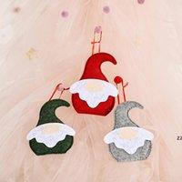 Рождественская елка орнамент лес старик плоские подвески творческий милый санта-Клаус безликая кукла украшения новогодние подарки HWA8520
