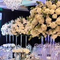 Akrilik Crysyal Çiçek Kaide Standı Düğün Centerpieces Için Düğün Çiçek Ekran Demir Dekoratif Çiçekler Çelenk