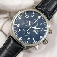 Klassische Männer Automatische mechanische Mechanische TagDate Le Petit Prinz Sapphir Black Brown Leder Blau Limited Uhr Sport Armbanduhren