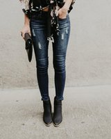 Women's Jeans Ripped Woman Denim Pants Trousers For Women Pencil Skinny Cargo Casual Style