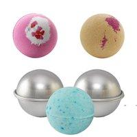 سبائك الألومنيوم كعكة الكرة العفن حمام قنبلة الخبز قوالب الشواء الكرة العفن diy الحلوى المجال شكل العفن fwe7322