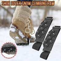 Disposable Gloves 1Pair Grippers Snow Grips Spike Winter Climbing Studs Anti-Slip Shoes Boots Cover Cleats Over Covers Crampon For Women Men