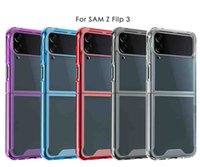 Crystal Clear Acrylic Soft TPU Phone Cases For Samsung Galaxy Z Flip 3 Flip3 Anti-drop Protection Four Conner Air Bag Hard Plastic PC Transparent Back Cover Skin