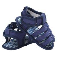 ولد حذاء طفل الفتيان الصيف تنفس قماش أول مشوا جينز الأزرق الجينز مكافحة الانزلاق