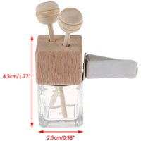 8ML Air Freshener Car Perfume Clip Fragrance Frost Empty Glass Bottle For Essential Oils Diffuser Vent Outlet Ornament MINI Travel Jar Container