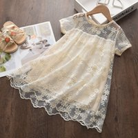 Girls Sweet Dresses Casual Summer Baby Lace Flowers Vestidos...