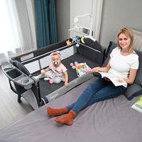 Baby Cribs European Folding Crib Splice Big Bed BB Multifunctional Portable Bassinet Play Diaper Machine
