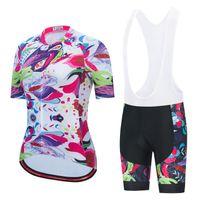 Miloto Femmes Jersey Cycling Jersey Set 2021 Pro Team Summer Vélo Vêtements Vêtements Vélo Vêtements Vélo Vêtements Montagne Kits de vélo Costume de vélo A4