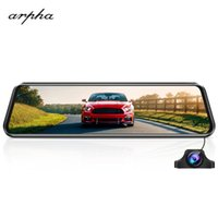 Cámaras de la vista trasera Cámaras Sensores de estacionamiento ARPHA W03 Streaming Video Mirror Cámara Pantalla completa TOUCHING ADAS Registrar Dual Lens Night Vision 10
