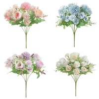 Bride Holding Roses Bouquet Wedding Decorative Plants Vases For Home Decoration Accessories Artificial Flowers Scrapbooking & Wreaths