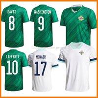 2021 أيرلندا الشمالية لكرة القدم الفانيلة الرجال + أطقم أطفال إيفانز لويس سافيل ديفيس Whyte Lafferty McNair Home 20 21 Mailleots Football Shirts