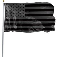 3x5ft الأسود العلم الأمريكي البوليستر عدم إعطاء ربع لنا الولايات المتحدة الأمريكية حماية الحماية التاريخية العلم على الوجهين داخلي في الهواء الطلق