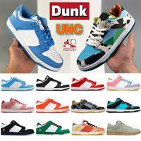 2021 Dunk SB UNC Costa Dunks Basto Basquete Sapatos Chunky Dunky Branco Preto Rosa Universidade Vermelho Sombra Kentucky Páscoa Homens Mulheres Designer Sneakers