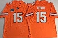 2021 الرجال النساء كيدا كرة القدم الفانيلة NCAA كلية فلوريدا gators 15 تيم تيبو أبيض أزرق