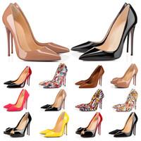 Zapatos de vestir de tacones altos de diseñador SO KATE FOTUROS ROJOS PARA MUJERES STILETTO 8 10 12CM Punto de cuero genuino Punta de punta de punta Mocasines Tamaño del caucho 35-44