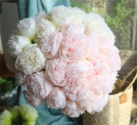 Large Peony flower heads party wall wedding Road led Arch DIY decoration peonies silk Artificial flowers flores artificiales 1974 V2