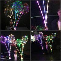 LED BOBO 풍선 31.5 인치 스틱 3M 문자열 풍선 LED 가벼운 크리스마스 할로윈 생일 풍선 파티 장식 보보 풍선 686 S2