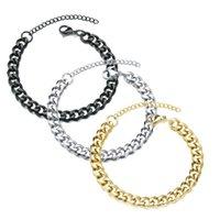 New Trendy Cuban Bracelets Classic Stainless Steel 3 5 7mm Width Chain Bracelet For Men Women Jewelry Gift