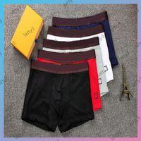 2021 letras clásicas impresas para hombre boxers pantalones cortos de lujo hombre de lujo hombre suave cómodo marca boxers 5 colores ropa interior elástico transpirabilidad