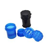 Honeupuff Med Container 4Parts Plastic Marmer Secure Trist Lock System Pepper Manders Безопасный поворот Замок Табак для курения Терб Muller 283 V2