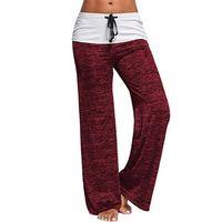 Fashion Trend Дамы Yoga Брюки на открытом воздухе Спортивное досуг Широкие ноги Брюки Удобные Удобные Растянуть Хорошие спортивные штаны