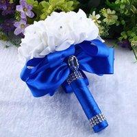 Crystal Roses Pearl Bridemaid Свадебный букет Свадебные Искусственные Шелковые Цветы Маровой Рукой Цветочные Декоративные венки