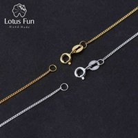 Lotus Fun Real 925 Sterling Silver Necklace Fine Jewelry 18K Gold Classic Easy Match Chain without Pendant for Women Accessories