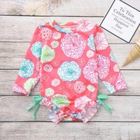 Summer Toddler Baby Girl Kids Swimwear Floral Printed Bikini Swimsuit Beach One Piece Lovely Wear Bathing Suit One-Pieces