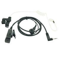 1pin Covert Akustyczne Zestaw słuchawkowy Regulowany głośność Słuchawki Walkie Talkie Earpiece z mikrofonem PTT dla Motorola Talkabout Radia EM1000 MS350 TKLR-T3 FV200 SX920R