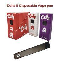 Torta Delta 8 kit vuota Vuoto Penna vape monouso Dispositivo POD E-sigarette Starter Kit 1ml Pods Vapes 270mAh 3.3 V Batteria ricaricabile Penne vaporizzatore