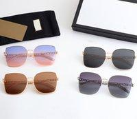 Nuevas mujeres moda tendencia pioneer gafas de sol empalme gafas especiales gafas nobles y elegantes mujeres de lujo caramelo de color lentes llenos de sensación de niña UV400