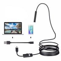 720P Endoskop-Kamera 8mm Linse HD Android USB-Endoskop Flexibles Schlangenkabel 6 LED-Lichtinspektionskamera für Smartphone-PC