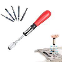 Professional Hand Tool Sets 25#Push Pull Ratchet Screwdriver Set 5 In 1 Bit Sleeve Driver Bit-Holder Socket Screw Kit
