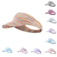 Wide Brim Hats Free Size Sun Hat Outdoor Sports Running Sunscreen Cool Breathable Sweatproof UV Male Female Headband Empty