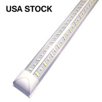 8ft مصباح متجر LED، مدمج T8 LED الإضاءة، 100W 10000LM، 6000-6500K الأبيض البارد، التوصيل والتشغيل، الرتبية، شكل الخامس، إخراج عالية