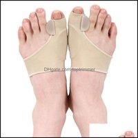Behandlung Gesundheit SchönheitGroat Zyste Fußpflegemittel Stretch Nylon Hallux Guard Kissen Bunion Toe Separator Thumb Valgus Protector Drop Deliv