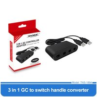 Game Controllers & Joysticks For PC GameCube GC Accessories Gamepads 3 In 1 4 Ports Handle To Wiiu PC Switch Converter Adapter