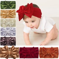 20pcs Baby Girls Nylon Headbands Turban Hair Bows Band Elastic Accessories for Kids Toddlers Infants Newborn