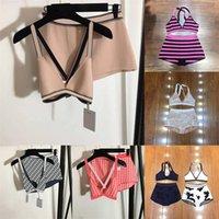 Imprimir Womens Bikinis Underwear Swimsuit verão cintura alta senhoras biquíni dois peça férias ao ar livre