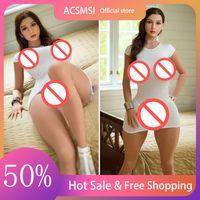 ACSMSI 163cm 100% Real Beauty Articoli Silicone Bambola del sesso in silicone Full Body Adulto Adulto Adulto realistico per gli uomini Amore Vagina Anale Big Ass