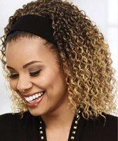 Headband wig women's short curly hair gradient high temperature silk headband wig91EP