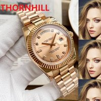 mens automatic mechanical day-date roman dial watches 41mm full 316L stainless steel wristwatches sapphire luminous watch u1 factory montre de luxe