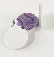 Sublimation Blank Car Ceramics Coasters Cup Mat Pad Heat Transfer Printing Coaster Consumables Materials KKB7658