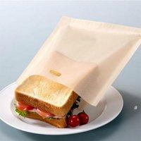 베이킹 도구 비 스틱 재사용 가능한 내열성 토스터 가방 샌드위치 튀김 난방 가방 주방 액세서리 OWB5928